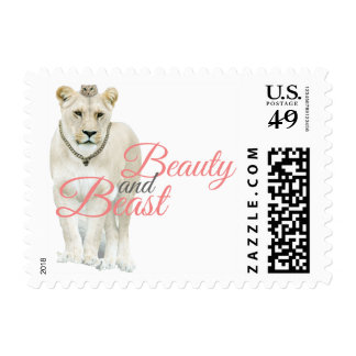 Beauty and Beast Postage
