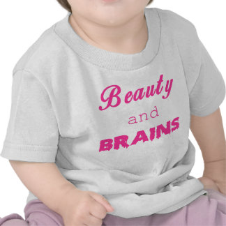 Beauty and BRAINS zombie shirt