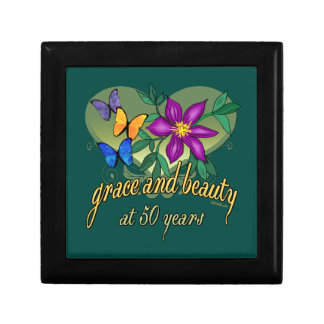 Beauty and Grace 50th Birthday Jewelry Box