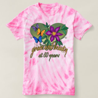 Beauty and Grace 50th Birthday T-shirt