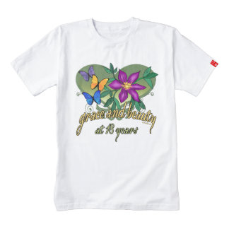 Beauty and Grace at 18 Years Zazzle HEART T-Shirt