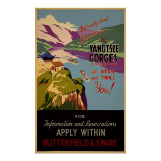 Beauty and grandeur - the Yangtze gorges Poster