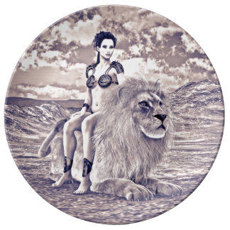 Beauty and Lion Dinner Plate