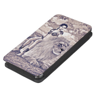 Beauty and Lion Galaxy S5 Pouch