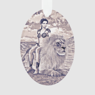 Beauty and Lion Ornament