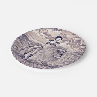 Beauty and Lion Paper Plate