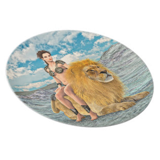 Beauty and Lion Plate