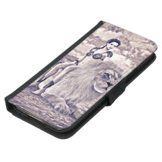 Beauty and Lion Wallet Phone Case For Samsung Galaxy S5