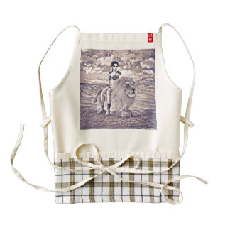 Beauty and Lion Zazzle HEART Apron