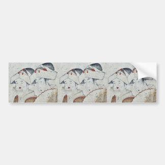 Beauty and Otafuku Ukiyoe Bumper Stickers