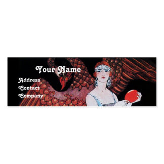 BEAUTY AND PHOENIX,FASHION DESIGNER MAKE UP ARTIST Double-Sided MINI BUSINESS CARDS (Pack OF 20)