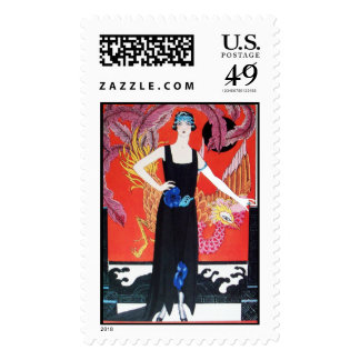 BEAUTY AND PHOENIX,FASHION DESIGNER MAKE UP ARTIST POSTAGE STAMP