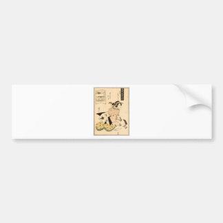 Beauty and Shamisen by Keisai Eisen Bumper Sticker
