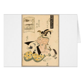Beauty and Shamisen by Keisai Eisen Card
