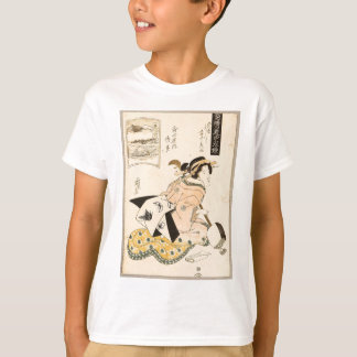 Beauty and Shamisen by Keisai Eisen T-Shirt