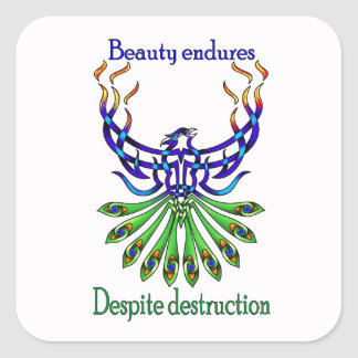 Beauty and Strength Square Sticker