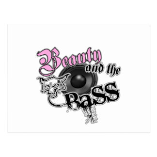 Beauty and the Bass girls EDM bass music logo Postcard