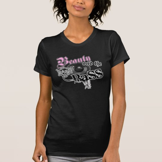 Beauty and the Bass girls EDM bass music logo T-Shirt