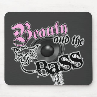 Beauty and the BASS Trance Electro techno Rave DJ Mousepads