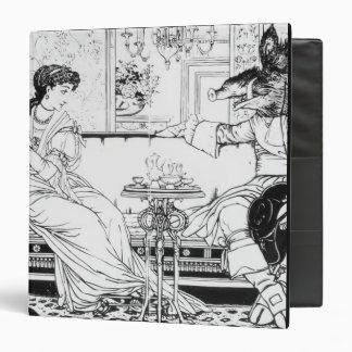 Beauty and the Beast, 1874 (litho) (b/w photo) Binder