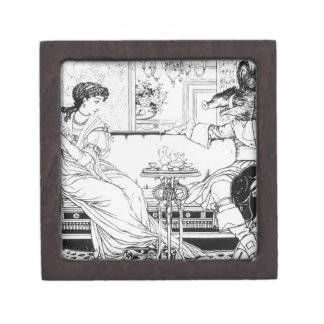 Beauty and the Beast, 1874 (litho) (b/w photo) Gift Box