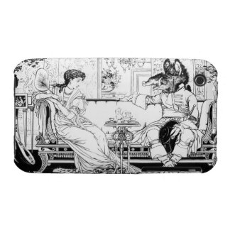 Beauty and the Beast, 1874 (litho) (b/w photo) iPhone 3 Case-Mate Cases
