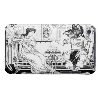 Beauty and the Beast, 1874 (litho) (b/w photo) iPod Case-Mate Case
