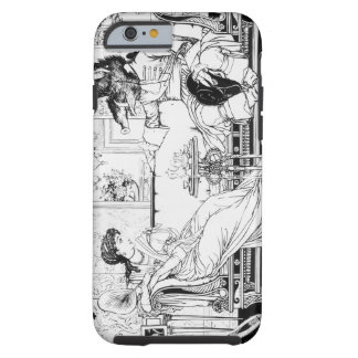 Beauty and the Beast, 1874 (litho) (b/w photo) Tough iPhone 6 Case