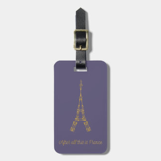 Beauty and the Beast | After All This Is France Bag Tag