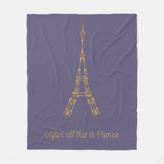 Beauty and the Beast | After All This Is France Fleece Blanket