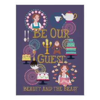 Beauty And The Beast | Be Our Guest Poster
