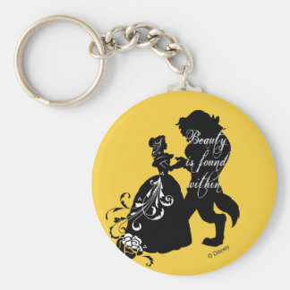 Beauty And The Beast | Beauty is Found Within Keychain