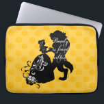 "Beauty And The Beast | Beauty is Found Within Laptop Sleeve<br><div class=""desc"">This beautiful graphic features your favorite Disney couple,  Beauty and the Beast. This silhouette features the saying,  &quot;beauty is found within&quot; in an elegant script font.</div>"