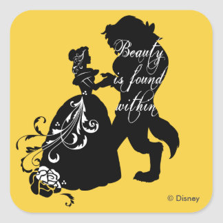Beauty And The Beast | Beauty is Found Within Square Sticker