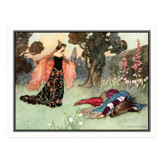 Beauty and the Beast by Warwick Goble Postcard