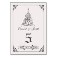 Beauty and the Beast | Castle Wedding Table Number
