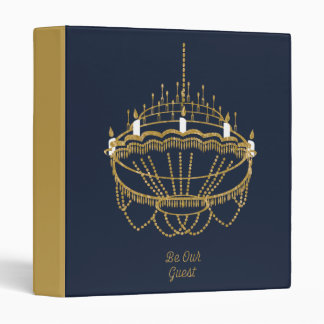 Beauty and the Beast | Chandelier - Be Our Guest 3 Ring Binder