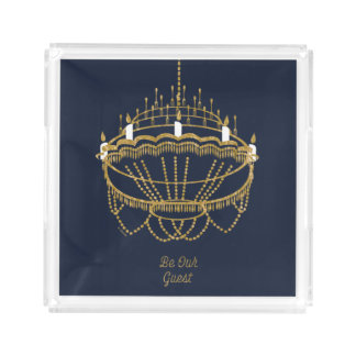 Beauty and the Beast | Chandelier - Be Our Guest Acrylic Tray