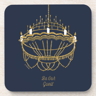 Beauty and the Beast | Chandelier - Be Our Guest Beverage Coaster