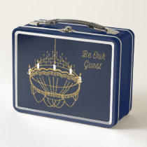 Beauty and the Beast | Chandelier - Be Our Guest Metal Lunch Box