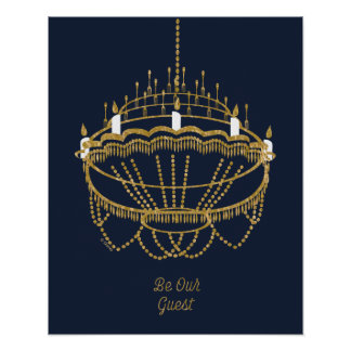 Beauty and the Beast | Chandelier - Be Our Guest Poster