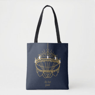 Beauty and the Beast | Chandelier - Be Our Guest Tote Bag