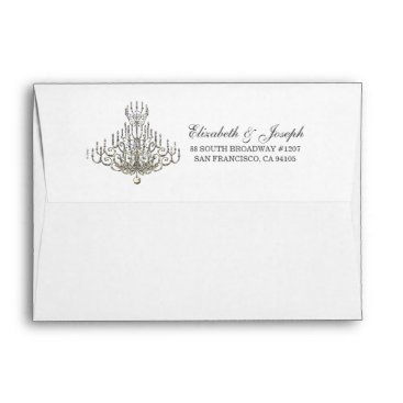 Disney Themed Beauty and the Beast | Chandelier Envelope