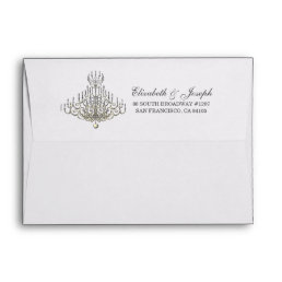 Beauty and the Beast | Chandelier Envelope