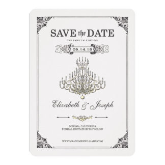 Beauty and the Beast | Chandelier - Save the Date Card