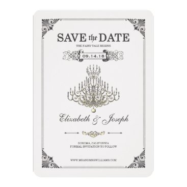 Disney Themed Beauty and the Beast | Chandelier - Save the Date Card