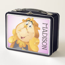 Beauty And The Beast | Cogsworth Metal Lunch Box