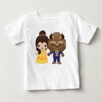 Beauty and the Beast Emoji Baby T-Shirt