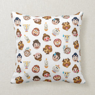 Beauty and the Beast Emoji | Character Pattern Throw Pillow