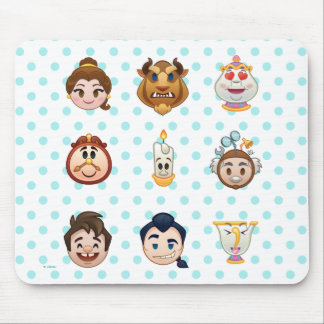 Beauty and the Beast Emoji | Characters Mouse Pad